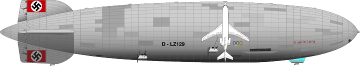 LZ-129 Hindenburg compared to Boeing 727-100